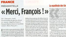 Les «Gracques» : Bayrou représente l'avenir du social-démocrate