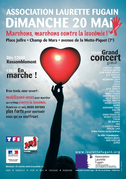 Association Laurette Fugain : Marchons contre la leucémie