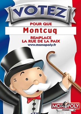 MONTCUQ , le monopoly et la Rue de la Paix !!!