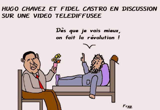 Rencontre entre Fidel Castro et  Hugo Chavez