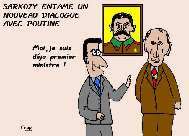 Dialogue entre Sarkozy et Poutine : les positions se rapprochent . .