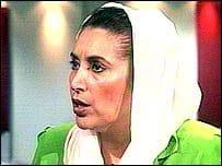 B. Bhutto : Scotland Yard réfute la mort par balle