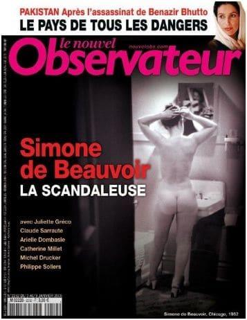 Les fesses de Simone de Beauvoir : Racolage ou paradoxe
