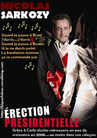 Election ou erection…Nicolas en pleine croissance !!