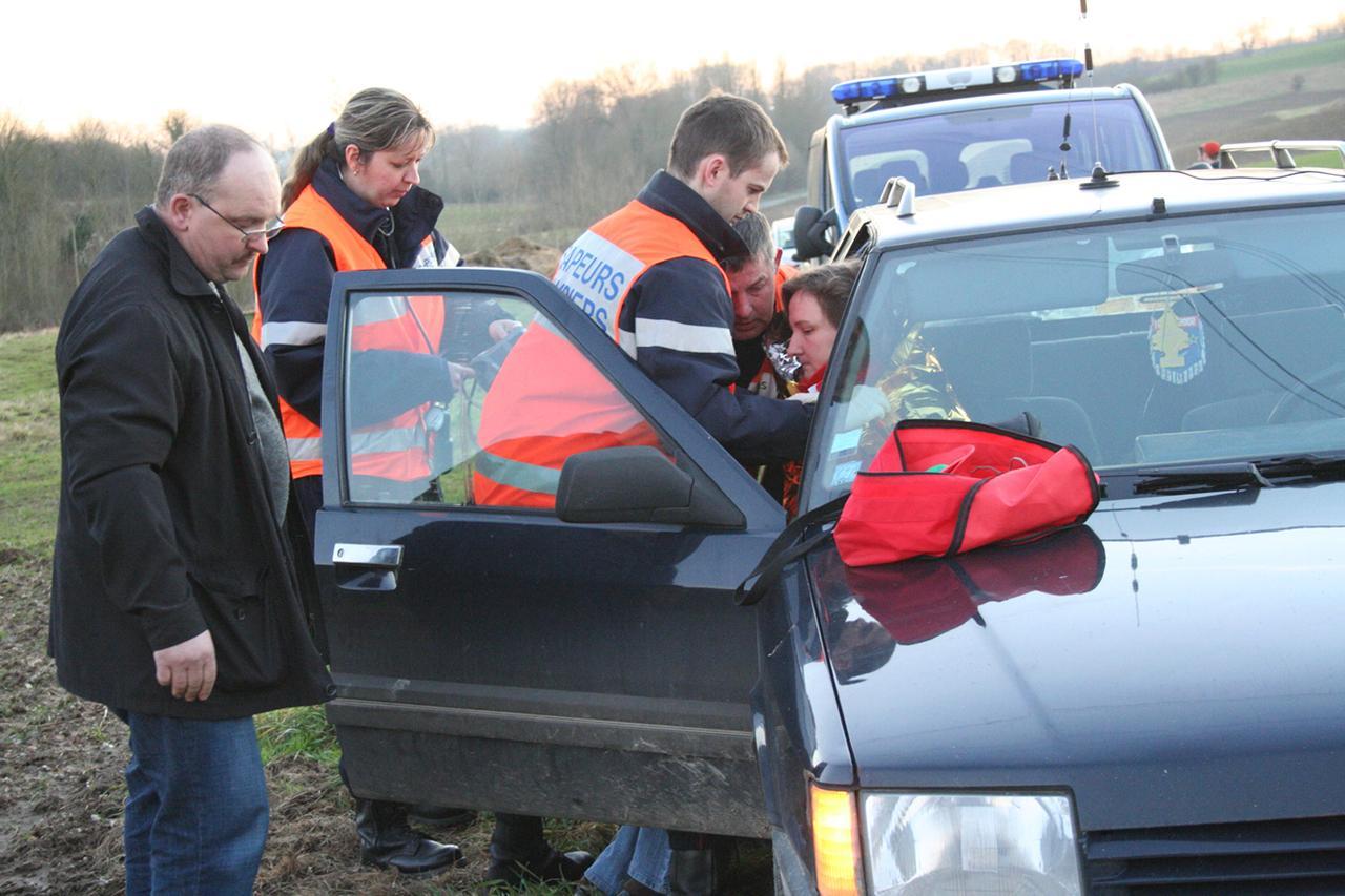 Accident de la route: Plus de peur que de mal