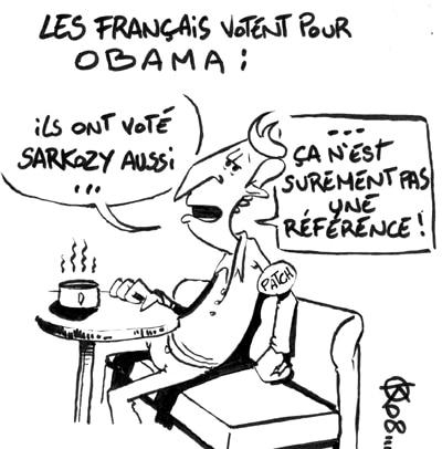 Les français votent pour Obama :