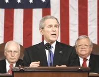 Intervention très courte de George Bush concernant la victoire d'Obama.