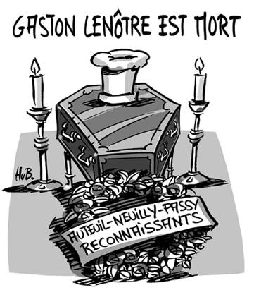 Gaston Lenôtre, pâtissier, traiteur de prestige, est décédé