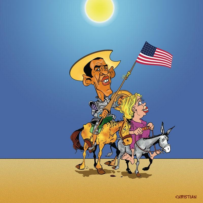 Barack OBAMA et Hillary CLINTON …C'est parti !