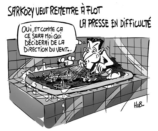 Sarkozy veut «aider» la presse