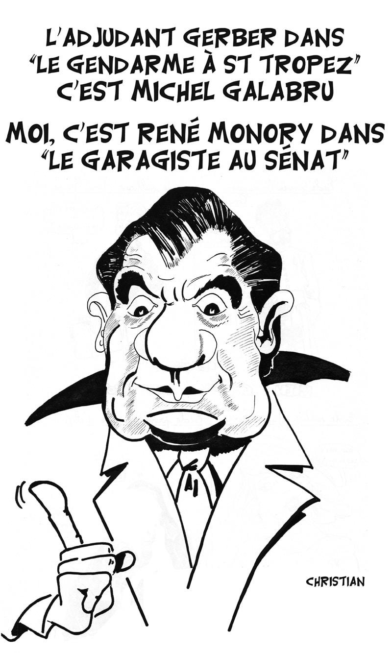 René MONORY, sosie de Michel GALABRU …