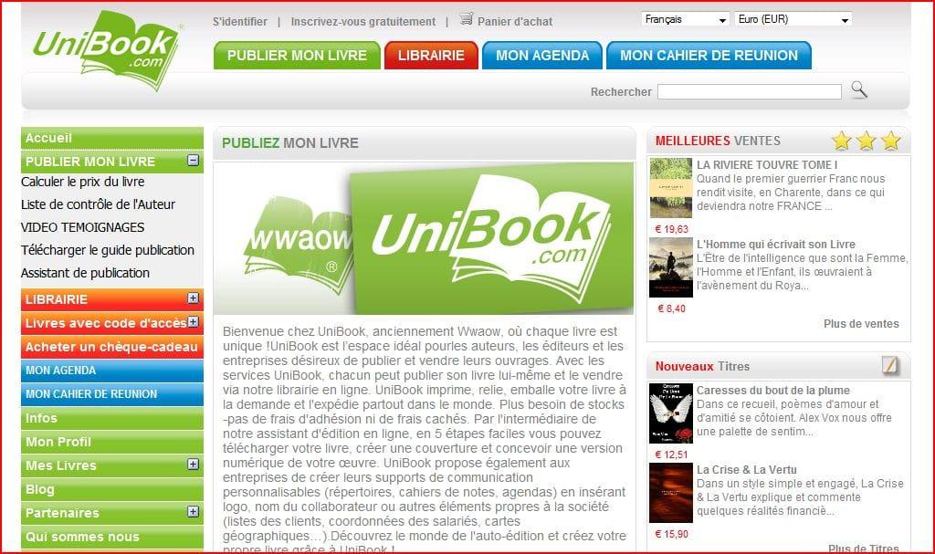 Unibook, pour (ré)imprimer son livre, ses livres…