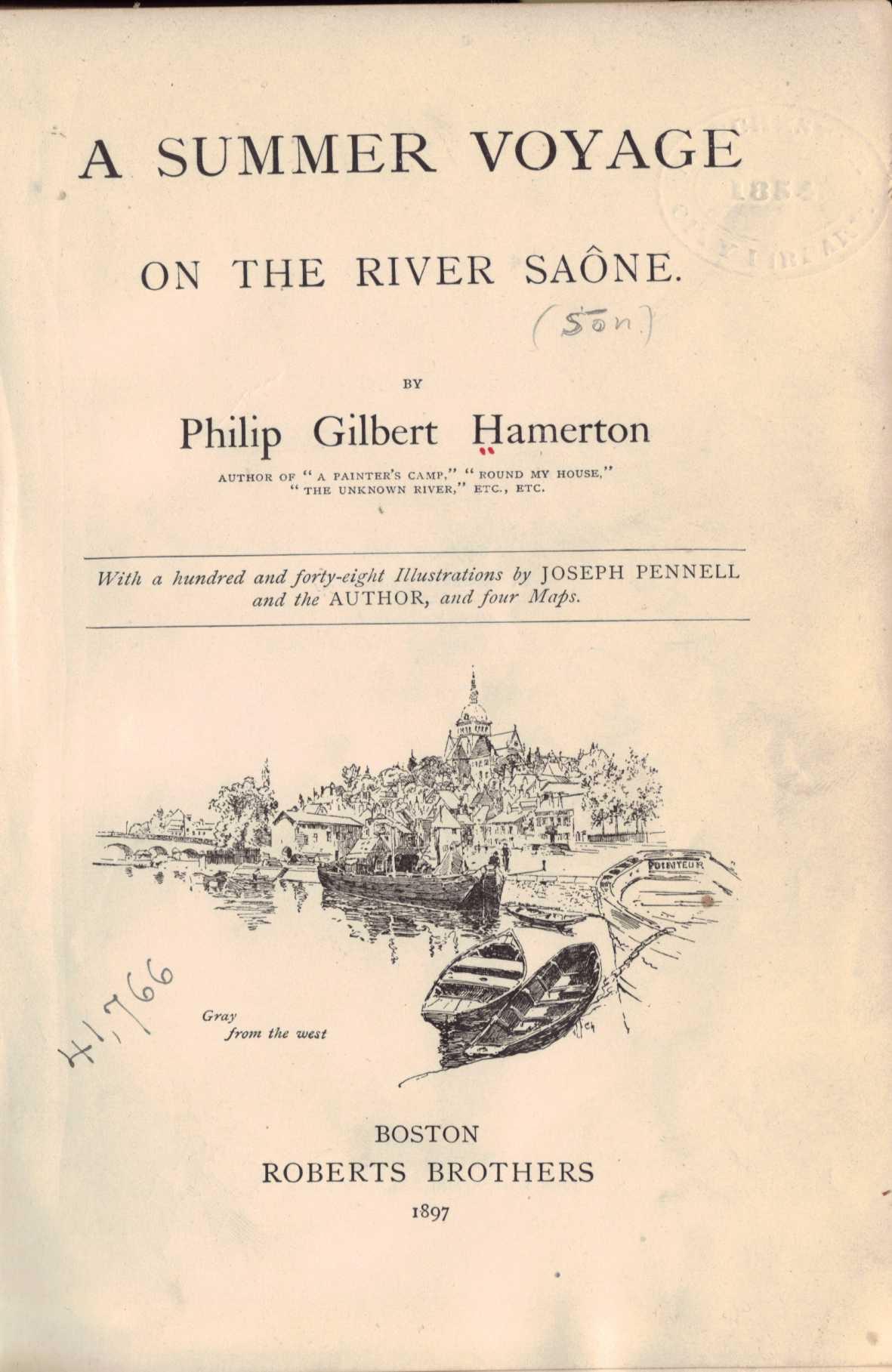Voyage pittoresque, et livresque, au fil de l'eau – la SAONE