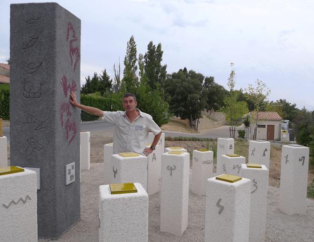 Le chemin des écritures, début de pistes en Luberon