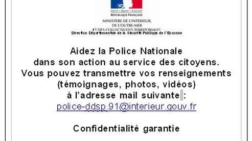 Quand la Police Invite à la DELATION, via INTERNET !!