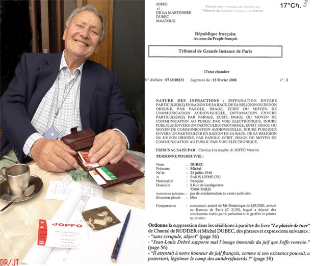 Exceptionnel Le Dr Michel Dubec face à Maurice Joffo devant le Conseil de l  FF73