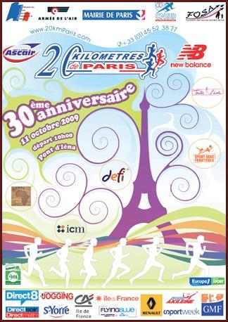 Les 20 km de Paris fête leur 30 ans .
