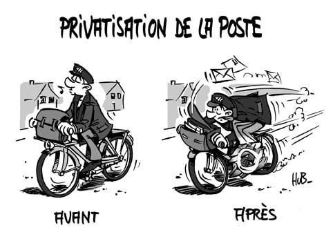 Privatisation de la Poste : tais-toi et pédale!