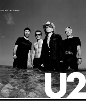 Un concert de U2 diffusé en direct sur youtube.