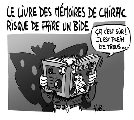 Les Mémoires de Chirac bientôt en librairie