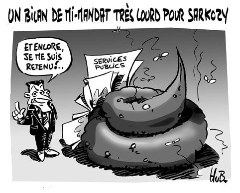Le président Sarkozy est arrivé à mi-mandat