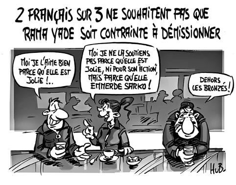 Deux français sur trois soutiennent Rama Yade
