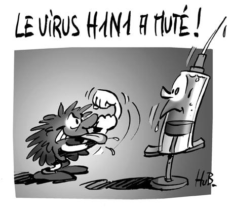 Grippe A : mutation du virus H1N1