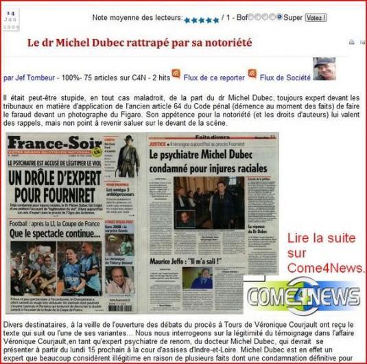 Michel Dubec condamné à trois mois avec sursis d'interdiction d'exercer