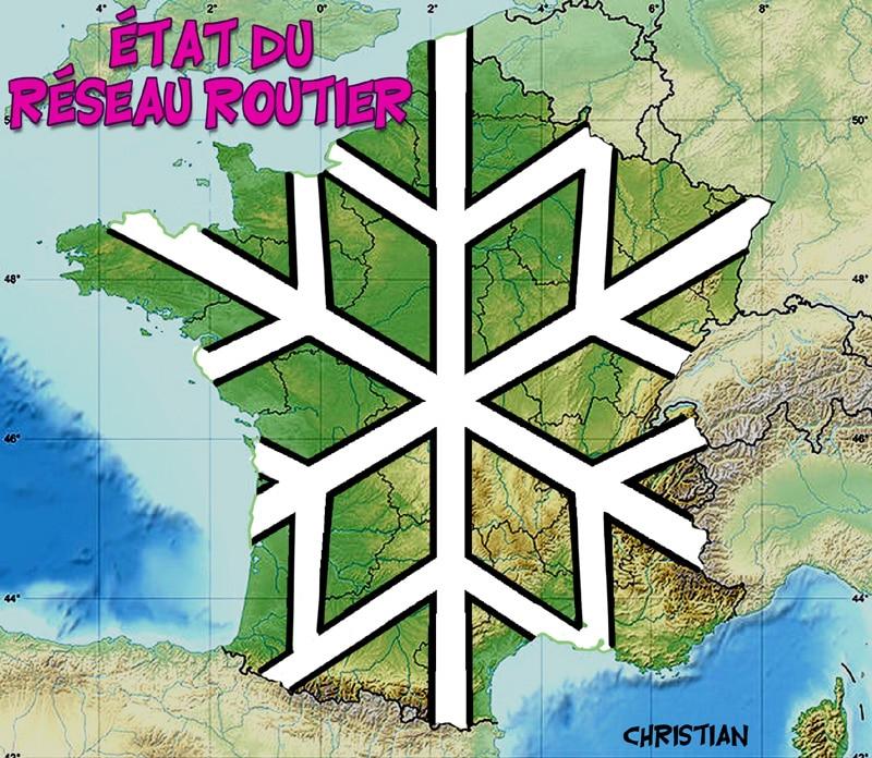 il a neigé sur la France