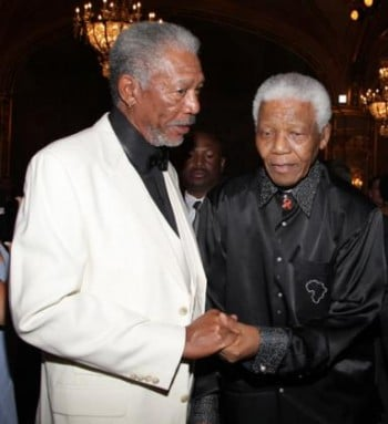 Morgan Freeman est Nelson Mandela