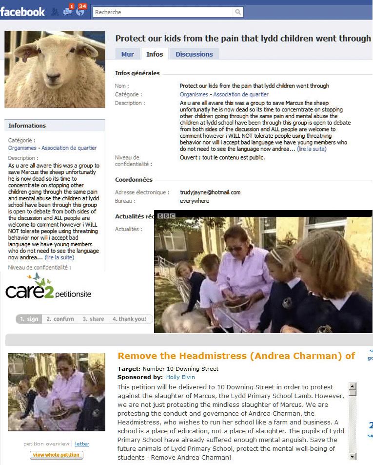 Une principale d'école anglaise « carbonisée » via l'Internet
