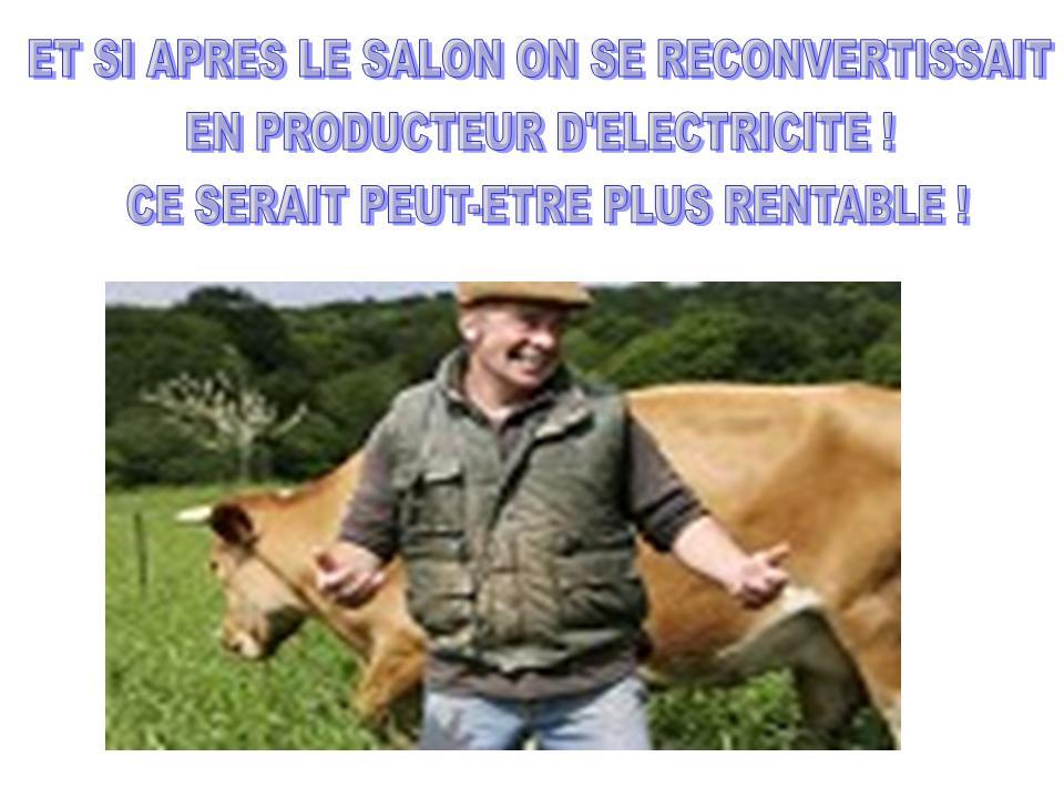 Une reconversion possible pour les agriculteurs.