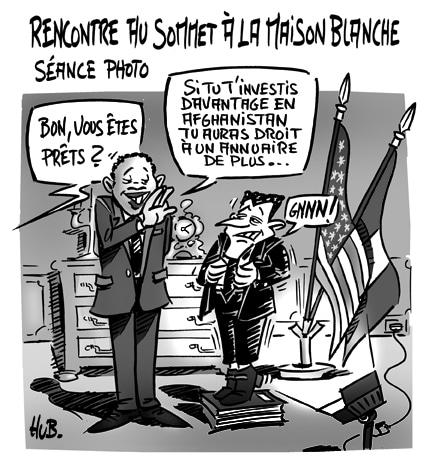 Sarkozy à la Maison Blanche