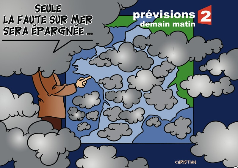 Nuages sur la France après l'éruption volcanique …