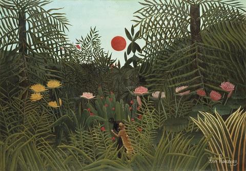 Henri Rousseau, peintre d'un monde exubérant et chimérique   .  Rétrospective