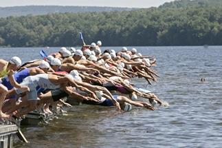 Championnat de France de Triathlon aux Vieilles Forges (08)