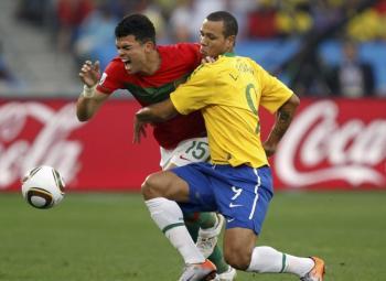 Le Brésil et le Portugal en 8ème de finale.