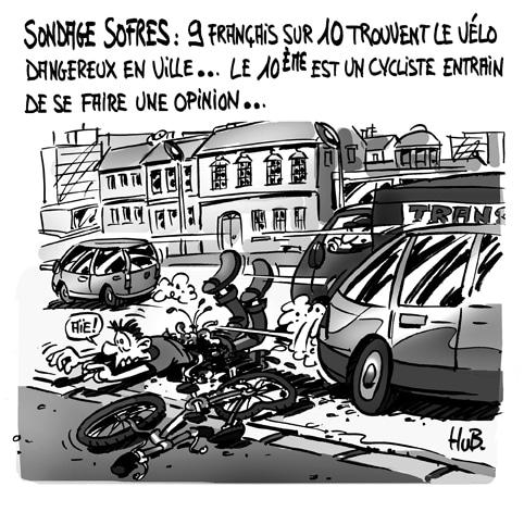 Le vélo en ville fait peur aux français