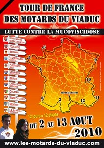 Le Tour de France moto contre la mucoviscidose