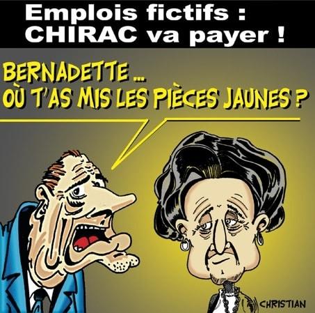 Jacques CHIRAC passe à la caisse …