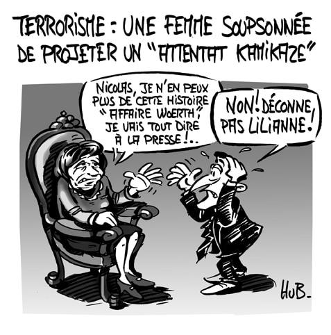 Les menaces d'une femme terroriste font trembler les autorités