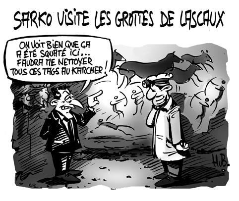 Sarko à Lascaux