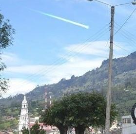 Un ovni traverse le ciel colombien