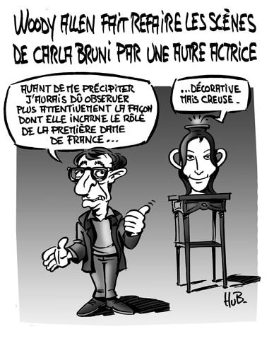 Carla Bruni recalée par Woody Allen