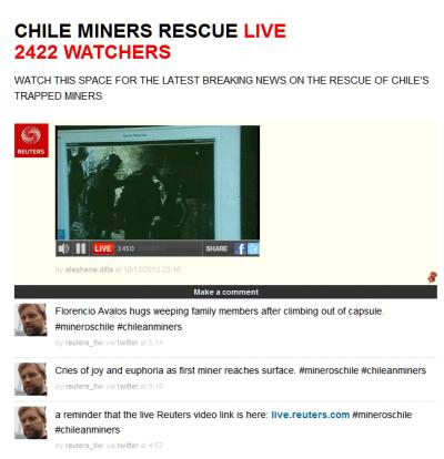 Mineurs chiliens : sous vos applaudissements…