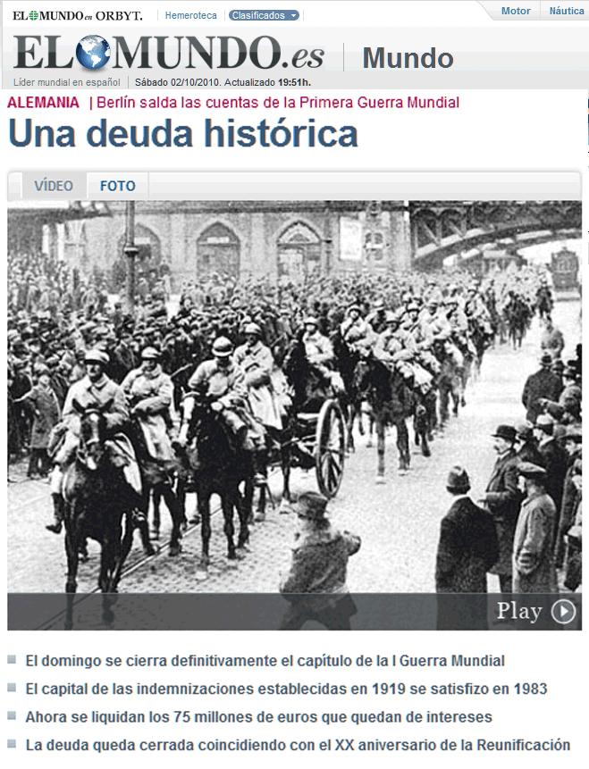 Grande Guerre : Des Allemandes et des Allemands ont payé !