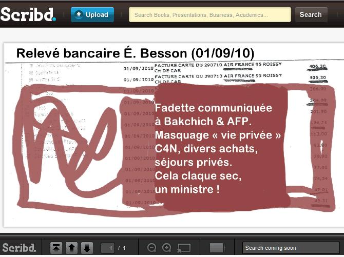 Woerthgate : les docs qu'Éric Besson ne veut pas diffuser (bis)
