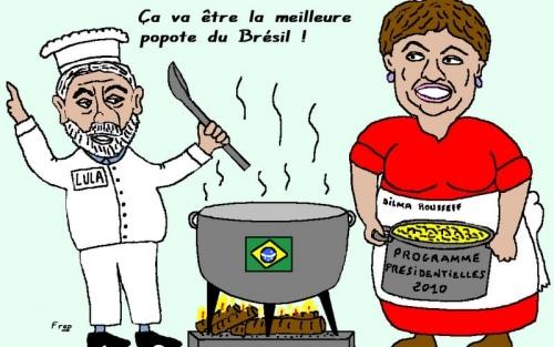 Brésil : Dilma  Rousseff succède à Lulla . .