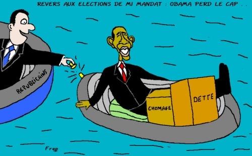 Revers aux élections de mi mandat : Obama perd le cap . .