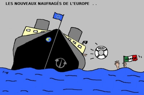 Les  nouveaux  naufragés  de l'Europe . .